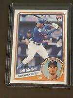 2019 Topps Throwback Thursday 1984 Topps Hockey Jeff McNeil RC Rookie Mets SP