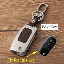 Accessories For Ford Fiesta Focus Metal Fold Key Case Holder Bag Cover Protect