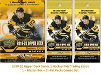 2019-20 Upper Deck Series 1 NHL Hockey Cards 1-BLASTER + 2-FAT PACKS Combo Set