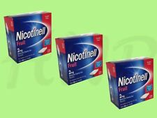 3 x Nicotinell Fruit 2mg Medicated Chewing Gum 204 Pieces 04/2021