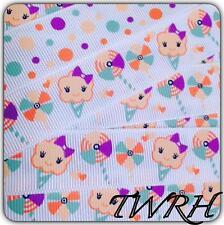 "Pinwheel Mtmg Ice Cream 5 yards grosgrain ribbon 7/8"" Twrh"