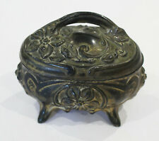 Antique Art Nouveau Metal Jewellery Box / Casket