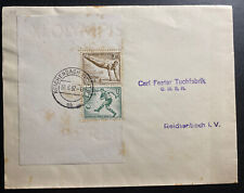 1937 Reichenbach Germany Cover Olympic Stamp Souvenir Sheet