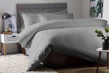 Belledorm 100%25 Cotton Waffle Weave Duvet Cover Set in Slate Grey Single Bed Size