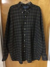Ralph Lauren Classic Fit Brown Plaid Long Sleeve Shirt Size 3XB Big & Tall EUC