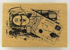 """""""KABUKI FIELDTRIP"""" Collage Lynne Perrella ACEY DEUCY M1-933 Rubber Stamp NEW"""