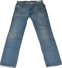Distressed Herren-Straight-Cut-Jeans mit niedriger Bundhöhe (en) Hosengröße W34