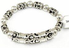 👑  Brighton Collectibles Barbados Stretch Silver Bracelet  JB7240