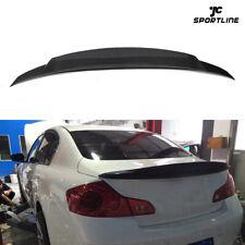 Rear Trunk Spoiler Tail Wing for Infiniti G25 11-12 G37 09-13 Sedan Carbon Fiber