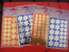 Self Adhesive Vinyl Labels 1000 Gold Six Point Stars Stickers size 20mm