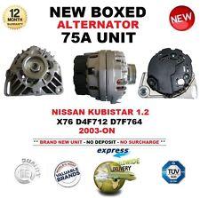 para Nissan Kubistar 1.2 X76 D4F712 d7f764 2003-on NUEVO 75a Alternador unidad