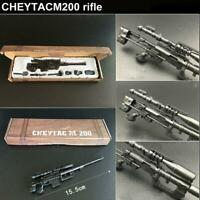 "1/6 Scale 6pcs 4D Rifle Assembly Weapon Model Set Gun Toy 12"" Figure Body M2S7"