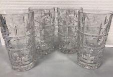 REED AND BARTON - New Vintage HiBall Crystal Glasses Set of 4 - NIB
