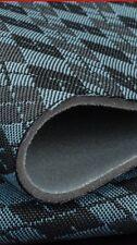 Blue Diamond Pattern Car Van Truck Auto Upholstery Cloth Material Fabric