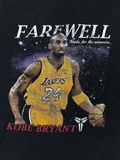 Farewell Kobe Bryant T-shirt Legend of the Black Mamba stats nba LA Lakers M