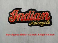 LARGE SIZE INDIAN Motocycle Biker Patch Embroidered Iron or Sew on Jacket#01