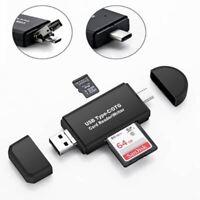 Tipo C & Micro USB & 3 IN 1 OTG Lector de Tarjetas Alta Velocidad USB2.0