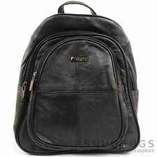 Ladies / Womens Soft Nappa Leather Backpack / Rucksack / Shoulder Bag