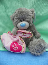 Me To You peluche ourson 18 cm assis *-* TENDRESSE *-* doudou rose bordé Liberty