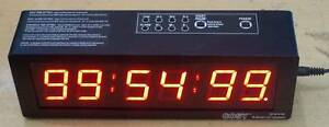 """6 Digit LED Stopwatch /Alarm clock - 1.5"""" digits , Up /Countdown- Freeze Time"""
