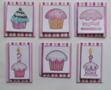 PK 6 GORGOUS CUPCAKE EMBELLISHMENT TOPPERS 4  CARDS