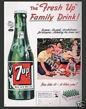 7 UP - Vintage Ad - Flexible Fridge Magnet