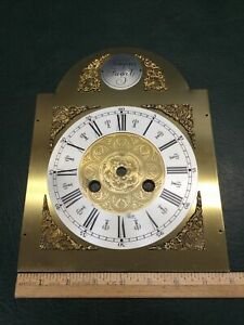 NOS Vintage Tempus Fugit Grandfather Clock Brass Face Dial