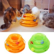 Interactive Disk Pet Cat Crazy Ball Toy Amusement Trilaminar Plate Toys Funny
