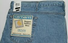 "MEN JEANS ""CARHARTT"" CASUAL RUGGED OUTDOOR Size 52 UNF TRADITIONAL FIT NWT"