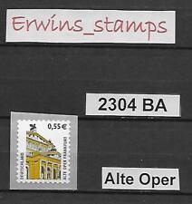 39011 BRD aus Jahrgang 2002 Mi.-Nr.: 2303 BA selbstklebend postfrisch