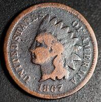 1867 INDIAN HEAD CENT - Near GOOD