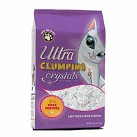 Ultra Pet Clumping Crystal Cat Litter, White Crystals Multicolor Crystals, 5 Lbs