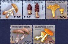 EDIBLE MUSHROOMS & FUNGI Stamp Set (2012 Burundi)