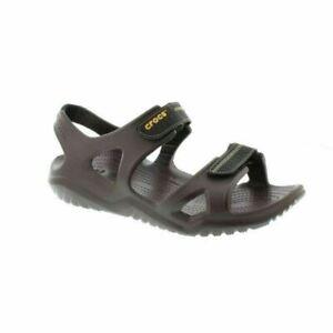 Crocs Size 7 Brown Sandals New Mens Shoes