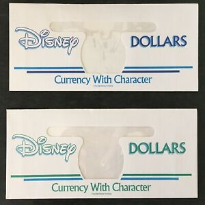 Ver. 26 Green/Blue and Rare Newly Discovered WDW Blue Disney Dollar Envelope