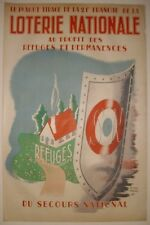Affiche originale Loterie Nationale Refuges Secours National.1943.Pierre Fossey