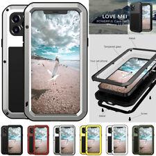 LOVE MEI Waterproof Metal Hybrid Case Screen Cover For iPhone 12 Mini Pro Max