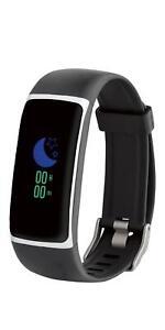 SILVERCREST® Activity Tracker schwarz/silber Fitnessband Uhr