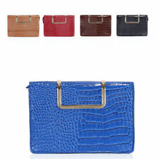 Zip Snakeskin Handbags with Inner Pockets Clutch Bags