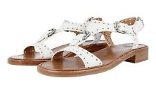 LUXUS CHURCH'S SANDALEN SCHUHE A740309FGF0ABK WHITE NEU 37 37,5