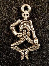 50Pcs. WHOLESALE Tibetan Silver Halloween SKELETON Charms  Earring Drops Q1263
