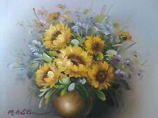 Ölgemälde, Blumenstillleben, Gemälde, Öl auf Leinwand, Ölbild, mit Rahmen