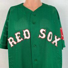 Majestic Authentic Boston Red Sox St Patricks Day Jersey MLB Baseball Sewn XL