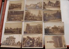 27620 12 Foto AK St. Quentin 1. WK Zerstörungen Schlachtfeld Geschütz 1917 CPA