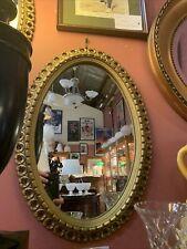 Titanic / Edwardian Era Vintage Gilt Single Oval  Mirror