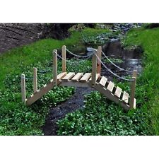 Shine Company 3 Ft. Decorative Garden Bridge Decorative Use Only - Natural New