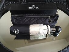Chanel Umbrella with Quilted Carry Case Cover Chain Push Button Operated VIP