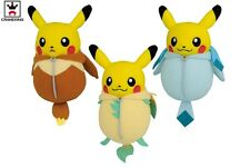 Pokemon Pikachu Nebukuro Sleeping Bag Eevee Leafeon Glaceon 13cm Plush Banpresto