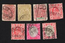 Transvaal 1885-1909 7 stamps used