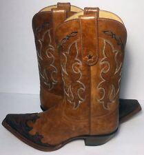 Tony Lama VF6003 Dasah Tan Brown Leather Western Cowgirl Boots Women's Size 8 B